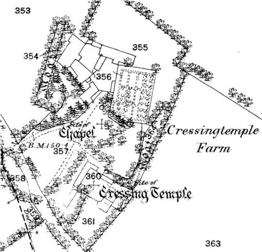 Cressing Temple in 1876