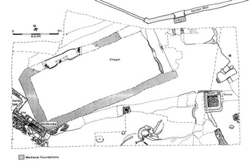 Excavation plan of the chapel.